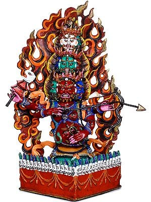 Tibetan Buddhist Deity Rahula (Za) - The Deity Who Has a Mouth in His Stomach (Made in Nepal)