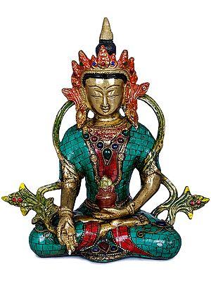 Crowned Medicine Buddha  -Tibetan Buddhist