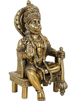 Hanuman Seated on a Chowki