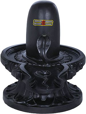 Black Marble Shiva Linga
