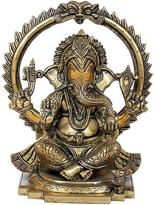 Chaturbhuja Seated Ganesha