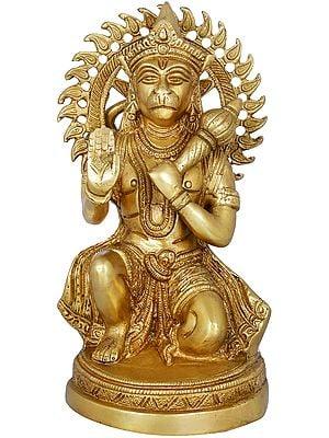 Hanuman ji in Abhaya Mudra