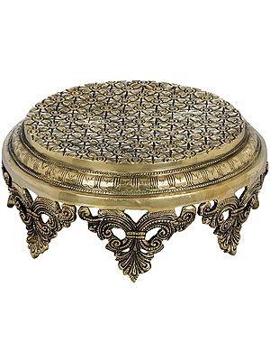 Engraved Puja Chowki