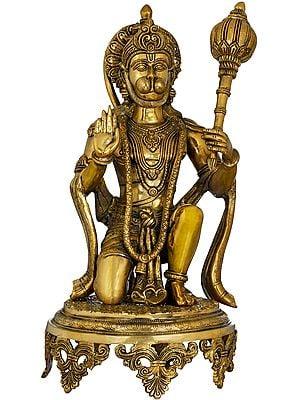 Blessing Hanuman Wielding a Mace