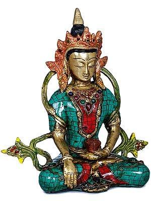 Tibetan Buddhist Crowned Buddha
