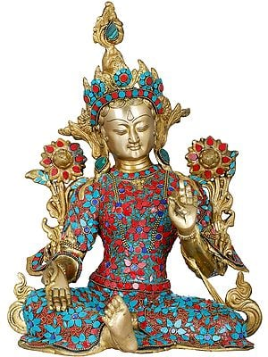 Saviour Goddess Green Tara - Tibetan Buddhist