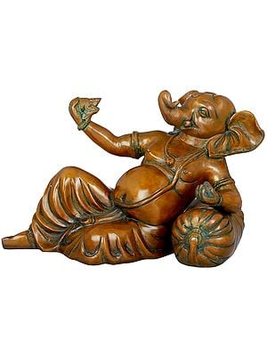 Ganesha in a Playful Mood With His Mouse