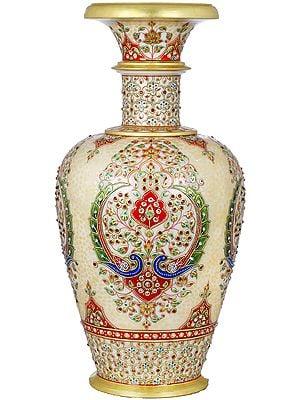Finely Decorative Marble Vase