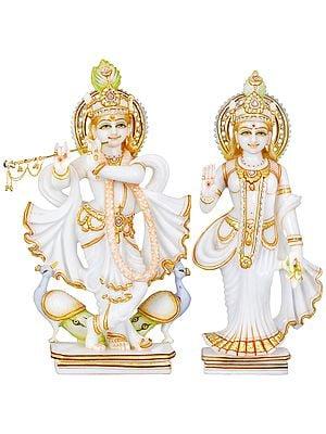 Radha Krishna With Flowing Robes
