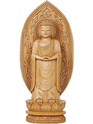 Standing Buddha in Japanese Aesthetics - Tibetan Buddhist