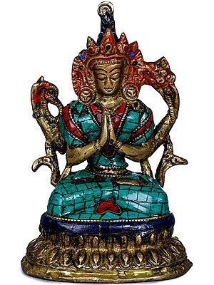 Tibetan Buddhist Bodhisattva Chenrezig (Small Statue)