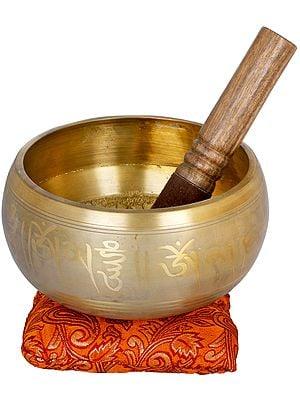 Five Dhyani Buddhas Singing Bowl - Tibetan Buddhist