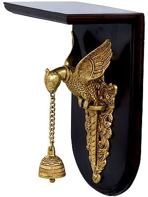 Parrot With Bell Wall Hanging