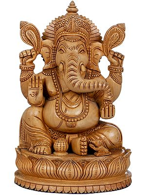 Shri Ganesha Carved in Wood