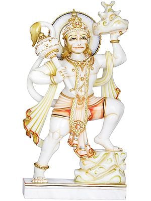 Superfine Shri Hanuman with Sanjeevani Mountain