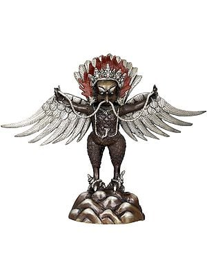 Standing Garuda with Stretched Wings and a Snake in His Beak