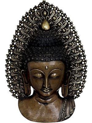 Tibetan Buddhist Deity Buddha Mask (Wall Hanging)