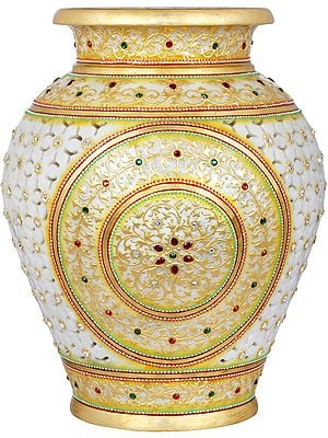 Tea Light Marble Pot