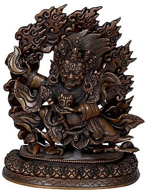 Tibetan Buddhist Two Armed Fine Mahakala - Made in Nepal