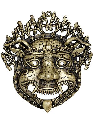 Tibetan Buddhist Wall-Hanging Mahakala Mask (Made In Nepal)