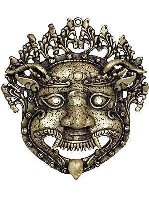 Wall Hanging Mahakala Mask From Nepal - Tibetan Buddhist