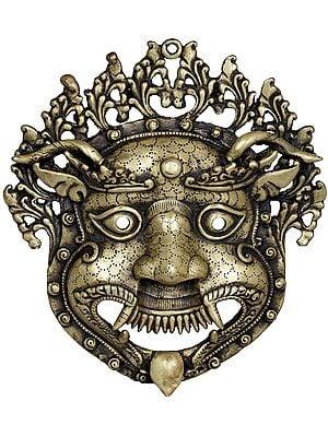 Tibetan Buddhist Wall-Hanging Mahakala Mask (Made In Nepal)