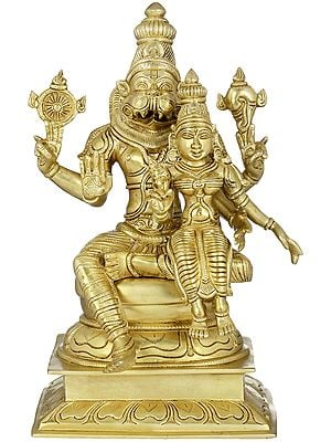 Narasimha with Lakshmi - Fourth of the 10 incarnations (Avatars) of Lord Vishnu