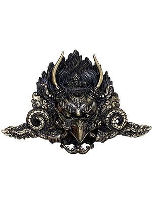 Tibetan Buddhist Garuda Mask With Long Horns - Made in Nepal