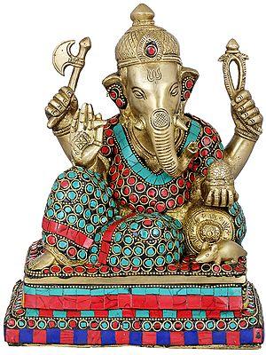 Inlay Relaxing Ganesha