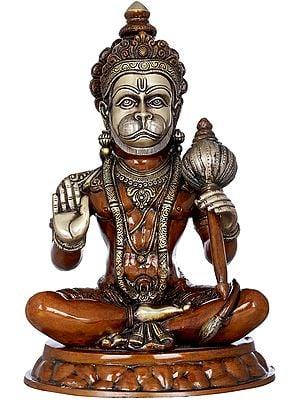 Seated Hanuman Holding a Gada (Mace)