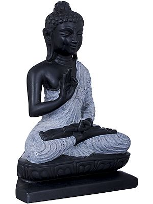 Lord Buddha Carved in Stone - Tibetan Buddhist