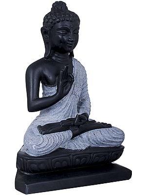 Padmasana Buddha, His Hands In Dharmachakra Mudra