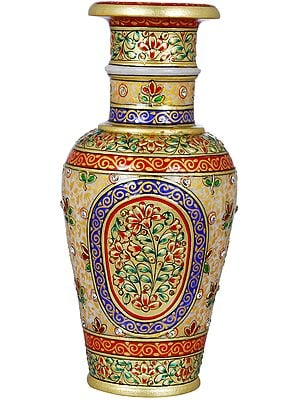 Beautifully Decorated Marble Vase