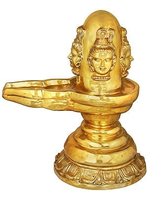 Large Size Four Faced Mukhalingam
