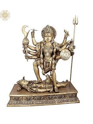 The Bloodthirsty Dashabhujadhari Devi Kali
