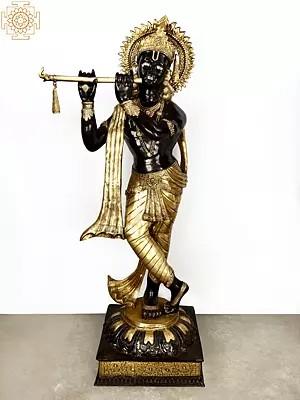 Super Large Murli Krishna Adorned With Long Scarf