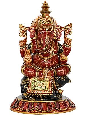 Ganesha Seated on His Vahana Rat