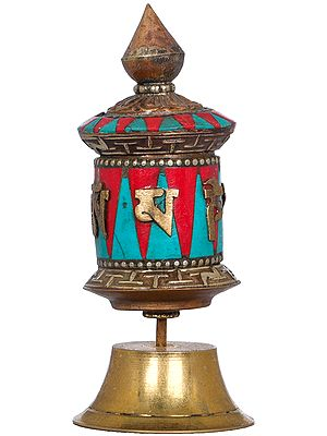 Small Prayer Wheel - Tibetan Buddhist