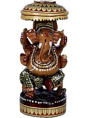 Ganesha on a Parasol Throne