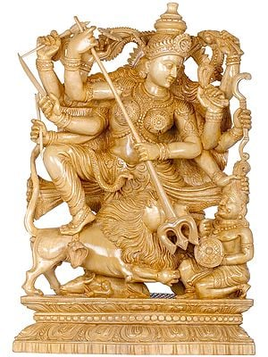 Goddess Durga Killing The Demon Mahishasura