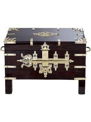 Superfine Ritual Box With Trident Shaped Latch