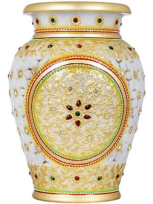 Decorated Flower Vase From Jaipur