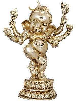 Six Armed Dancing Chandra Ganesha