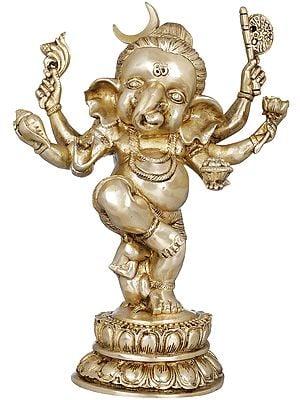 Six Armed Dancing Chandra Ganesha
