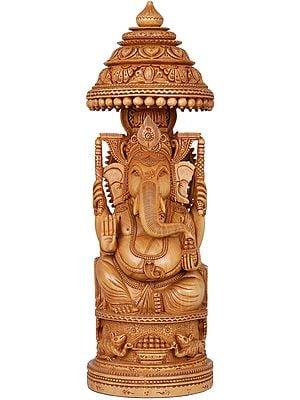 The Royal Splendor of Superfine Ganesha (A Conch Ganesha on Reverse)