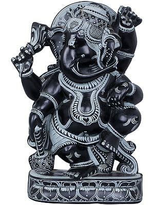 Four Armed Dancing Ganesha
