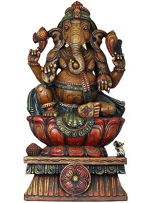 Lord Ganesha Seated in Royal Ease