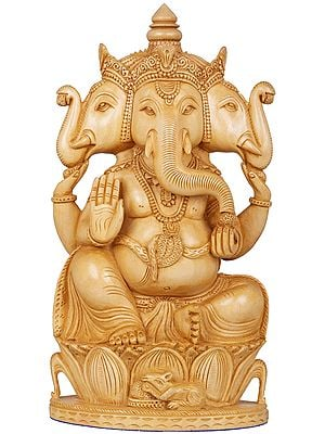 Three Headed (Trimukha) Ganesha