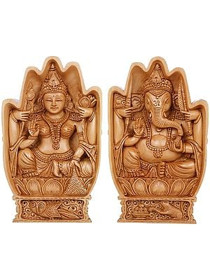 Lakshmi Ganesha in Blessing Hands