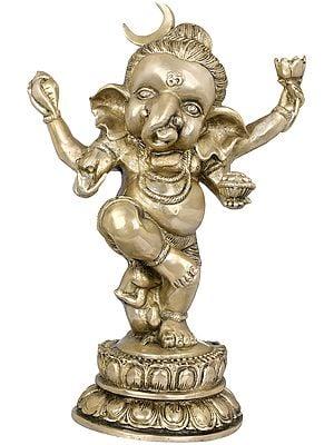 The Joyous Baby Dancing Ganesha